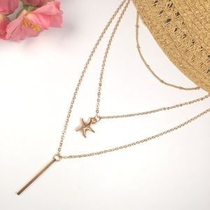 Jewelry - Starfish Multilayer Necklace